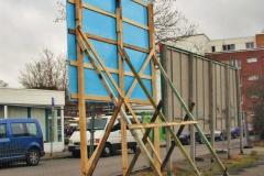 Bauschild Holzgeruest